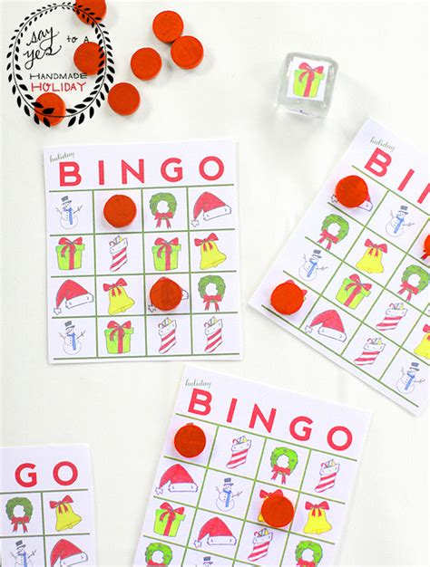 printable holiday bingo games holiday bingo game say yes