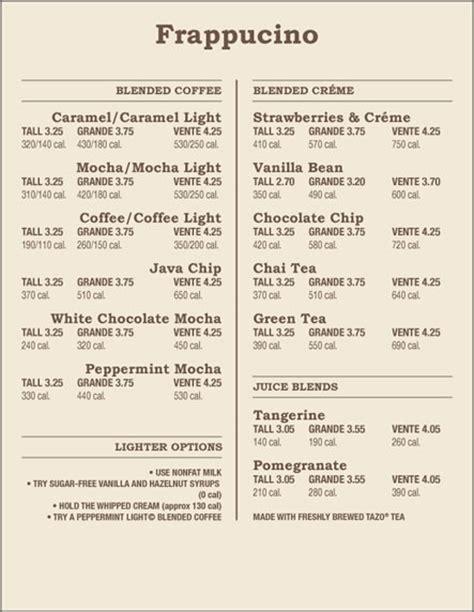 Prices   Starbucks Price List