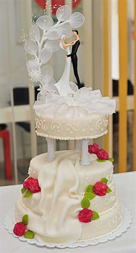 Hochzeitstorte 2 Etagen by Hochzeitstorten B 228 Ckerei Nestler