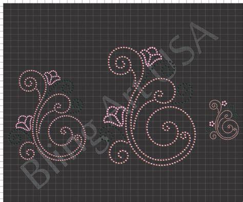 Rhinestone Templates swirls rhinestone downloads files templates patterns bling