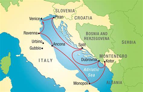 adriatic sea map trip details travel study stanford alumni association