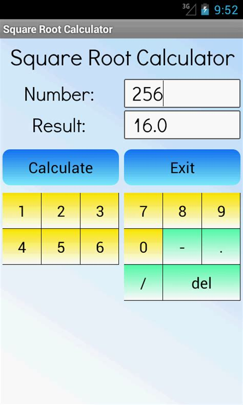 Square Root Calculator Android Apps On Google Play Square House Calculator