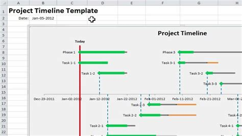 excel template project timeline calendar monthly printable
