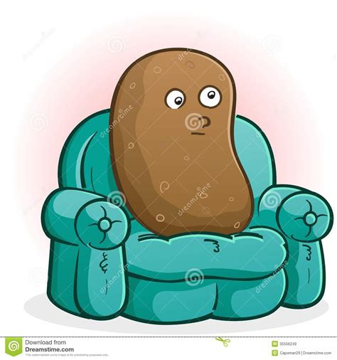 couch potato cartoon couch potato cartoon character royalty free stock images