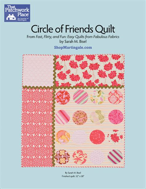 martingale circle of friends quilt epattern