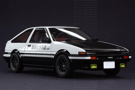Aoshima Toyota Ae86 Sprinter Trueno Project D With Engine 1 24 toyota sprinter trueno ae86 initial d project d a