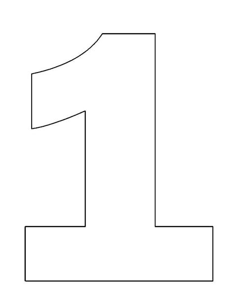 number 1 template number 1 coloring page chuckbutt