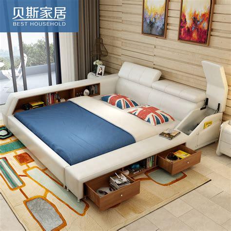 usd 806 35 korean tatami bed leather bed 1 8 meter bed modern simple skin bed soft