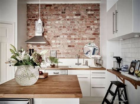 kitchen with brick wall 30 trendy brick accent wall ideas for every room digsdigs