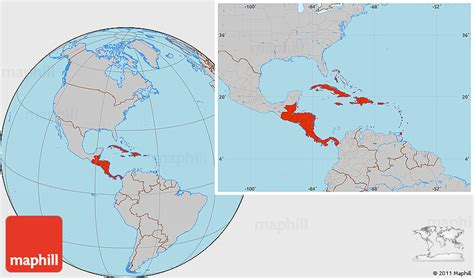 america map gray gray location map of central america