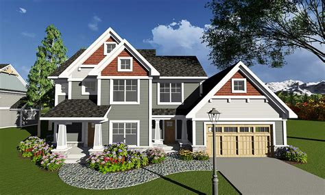 house plans architectural four bedroom craftsman with den 890018ah architectural designs house plans
