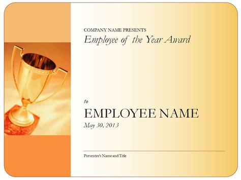 employee of the year certificate template employee of the year certificate