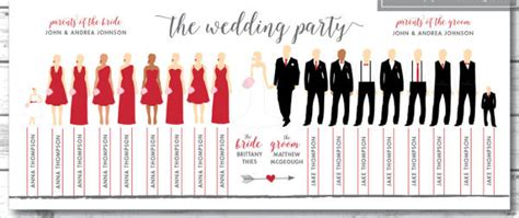 8 Wedding Party Program Templates Psd Vector Eps Ai Illustrator Download Free Premium Wedding Silhouette Template