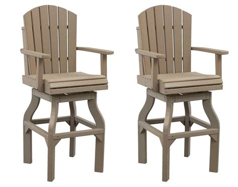 Adirondack Bar Chairs by Poly Lumber Adirondack Swivel Bar Chair Set Of 2
