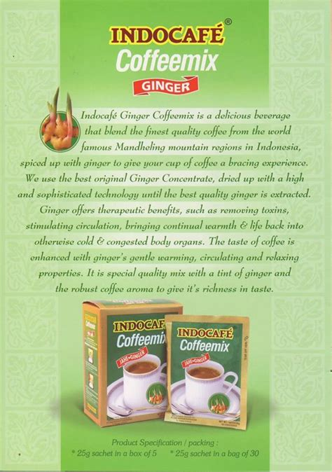 Coffeemix Sachet indocafe gingseng coffee mix products indonesia indocafe
