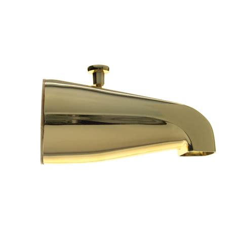 bathtub diverter spout universal tub spout w diverter in polished brass danco