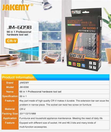 Jakemy 66 In 1 Profesional Screwdriver Set Jm6098 T0210 2 jakemy jm 6098 66in1 screwdriver set