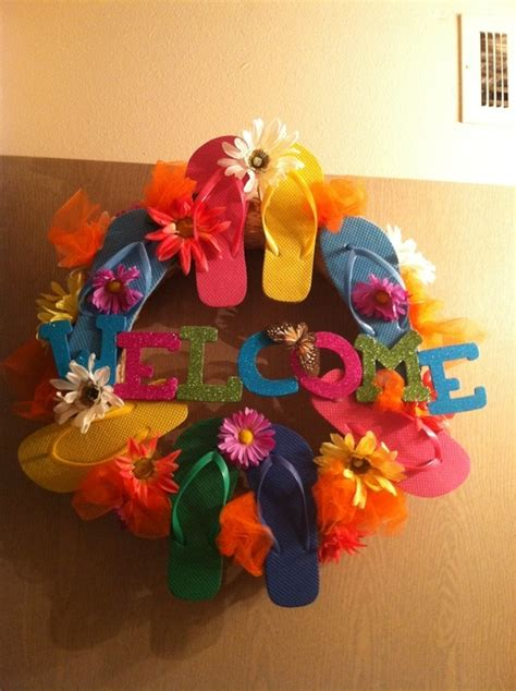 ideas for flip flop craft projects flip flop craft ideas flip flop wreath flip flop