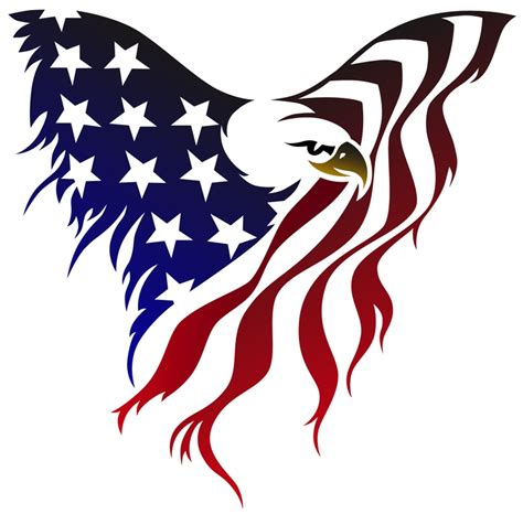american flag with eagle clipart clipart suggest