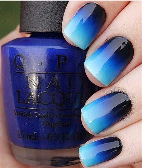 blue ombre nails ombre blue nails pretty designs