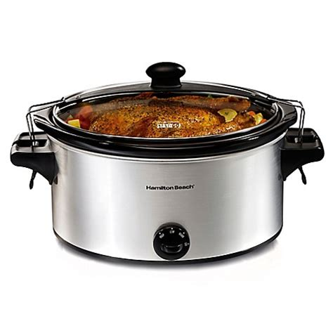 slow cooker bed bath and beyond hamilton beach 174 stay or go 6 quart slow cooker bed bath beyond