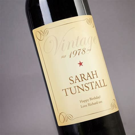 personalised wine vintage label gettingpersonal co uk