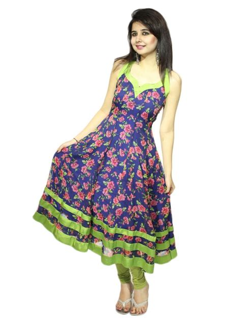 Kurti Pattern Anarkali | buy vivaa georgette printed anarkali kurti multicolour