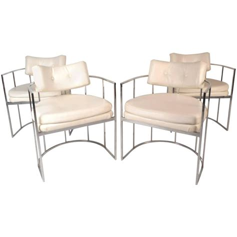 set of mid century modern dining chairs in the style of