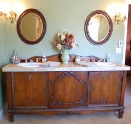 Antique Furniture Turned Into Bathroom Vanity Antique Sideboard Buffet Turned Into Sink Vanity Traditional Bathroom Portland By