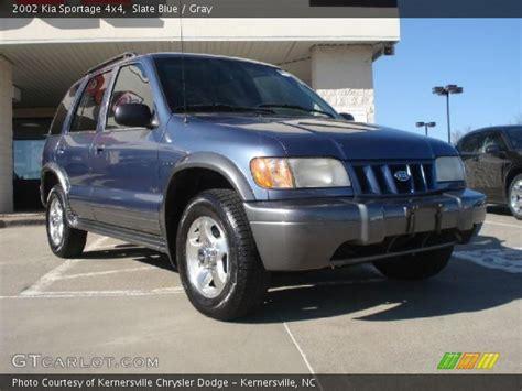 2002 Kia Sportage 4x4 Slate Blue 2002 Kia Sportage 4x4 Gray Interior