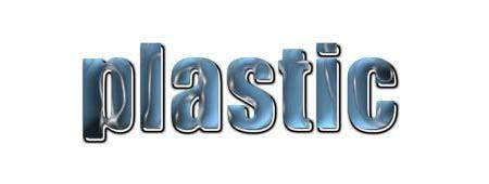 di plastica testo animazione testi effetto plastica