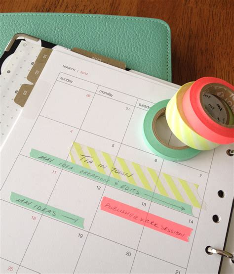 what do you use washi tape for 25 fresh new ways to use washi tape