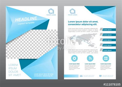 layout for cover page quot layout flyer template size a4 cover page soft blue tone
