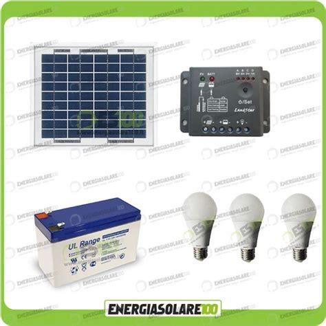 kit illuminazione solare kit illuminazione pannello solare 5w con 3 lade led 7w