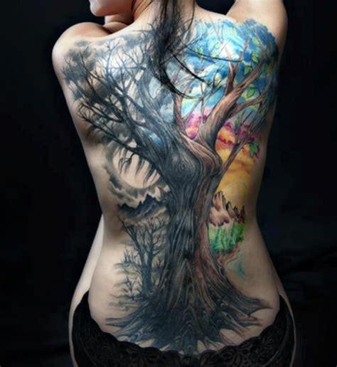 tattoo back tree colored tree tattoo on girl full back tattooshunt com