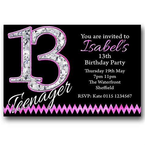 13th birthday invitations templates fascinating 13th birthday invitations as birthday