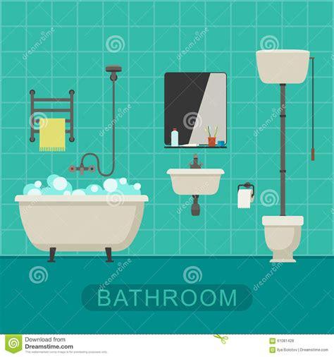 insegna bagno insegna piana bagno illustrazione vettoriale