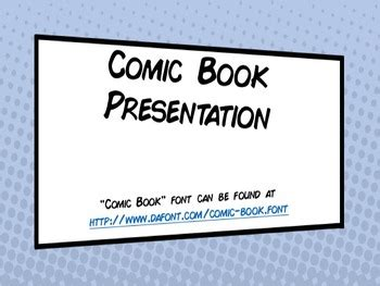 comic book template powerpoint comic book powerpoint presentation template by douglas