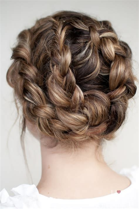 plait hairstyles for hair halo twist braid updo elegant updos for spring summer