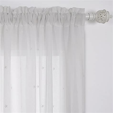 sheer curtains with stars deconovo sheer white curtains sheer window curtains little