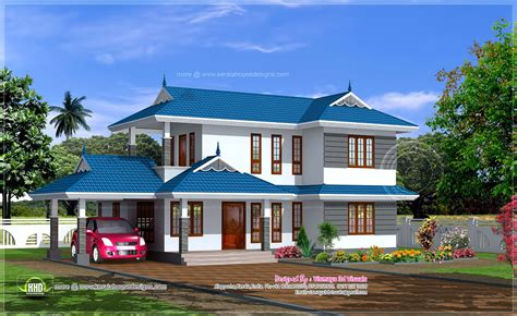 kerala houses blue home also beautiful house exterior color combination trends