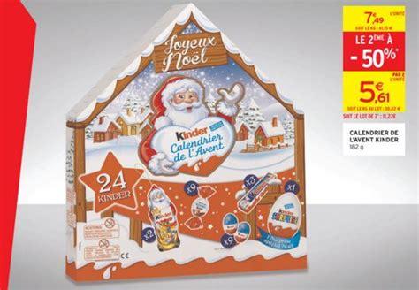 Calendrier De L Avent Kinder Moins Cher Calendrier De L Avent Kinder 2015 Moins Cher Auchan