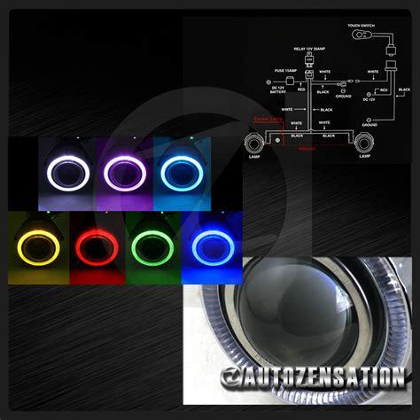 7 color led halo eye projector fog lights daytime