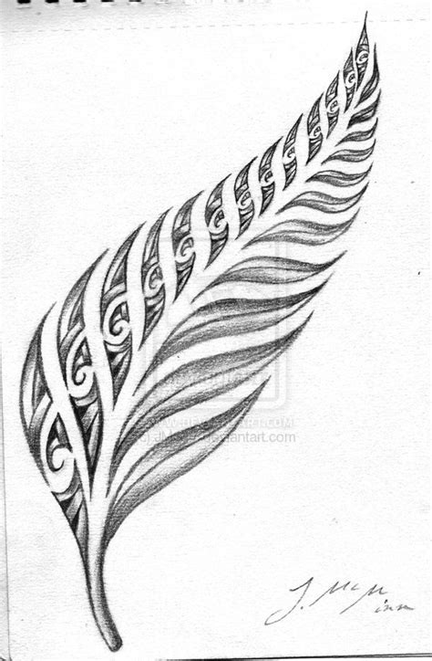 kiwi tribal tattoos silver fern maori search ink