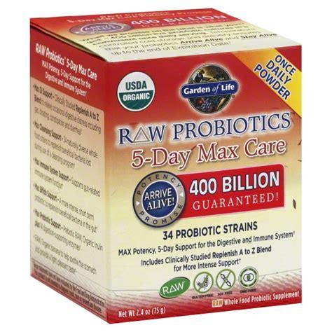 Garden Of Whole Food Probiotic Garden Of Probiotics 5 Day Max Care 400 Billion