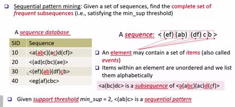 sequential pattern mining en francais pattern discovery 3 sequential pattern mining