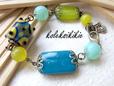Gelang Chrom Motif Lukis Cantik gelang simple dengan manik kaca unik blogkoleksikikie