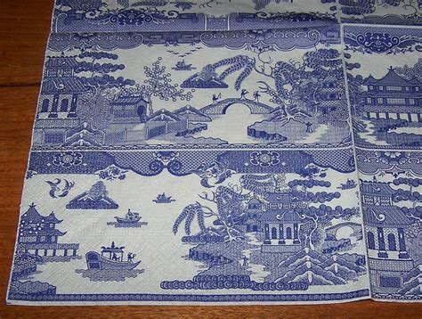 willow pattern paper napkins 41 best blue willow images on pinterest willow pattern