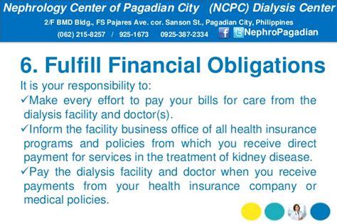 Dialysis Responsibilities dialysis patients responsibilities