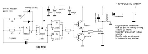 ozone generator high power ionizer circuit